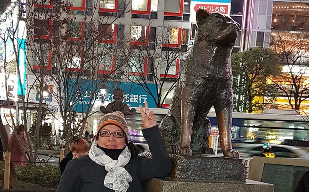 La estatua de Hachiko