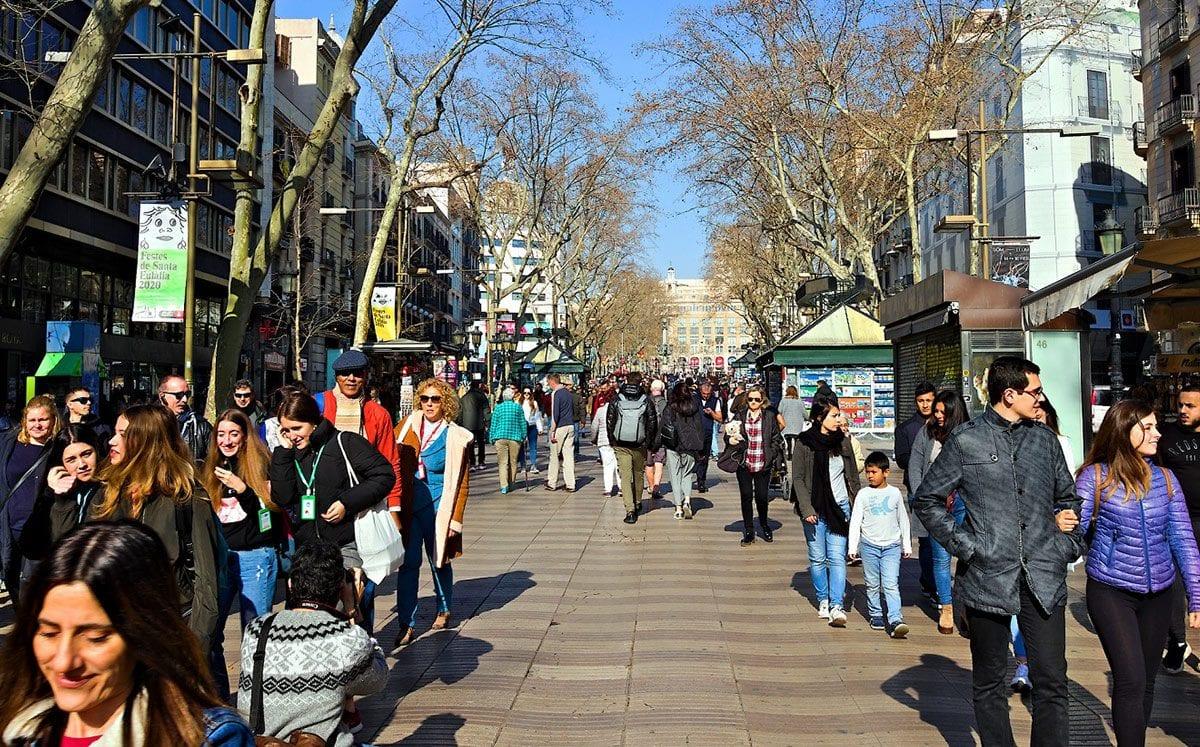 Las Ramblas en Barcelona