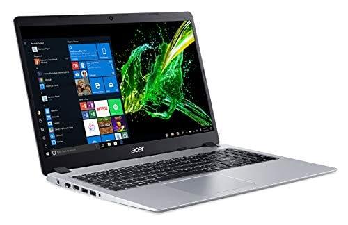 Acer Aspire 5 Slim - visualización IPS Full HD de 15,6 Pulgadas, AMD Ryzen 5 3500U, Vega 8 Graphics, 8GB DDR4, 256 GB SSD, Teclado retroiluminado, Windows 10 Home, A515-43-R5RE, Plateado