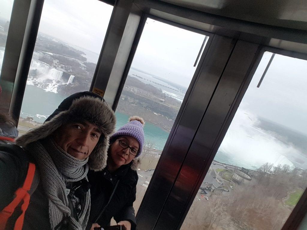 Skylon –tower… las cataratas vistas desde la torre más alta del Niágara Falls